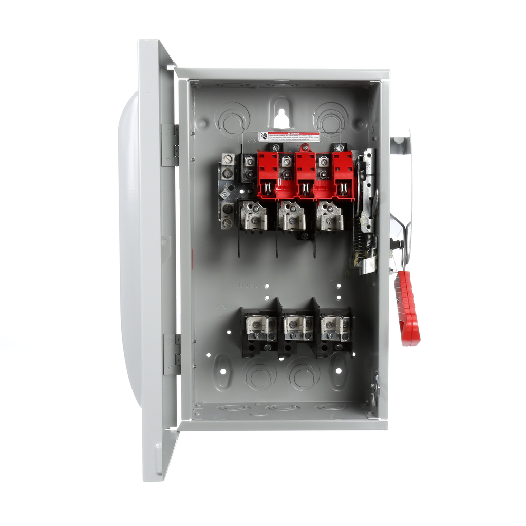 Siemens Industry HF362N 480/600 VAC/250/600 VDC 60 Amp 3-Pole 4-Wire NEMA 1 Heavy Duty Fusible Safety Switch