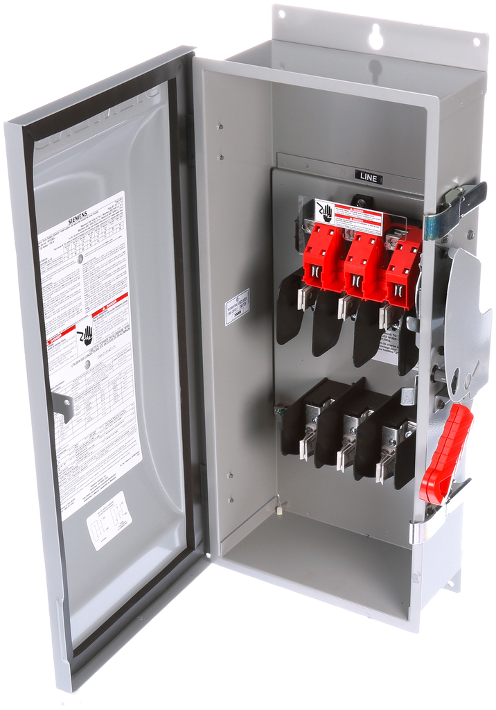 Siemens Industry HNF364J 240/480/600 VAC 250/600 VDC 200 Amp 3-Pole 3-Wire NEMA 3R/3S/12 Heavy Duty Non-Fusible Safety Switch