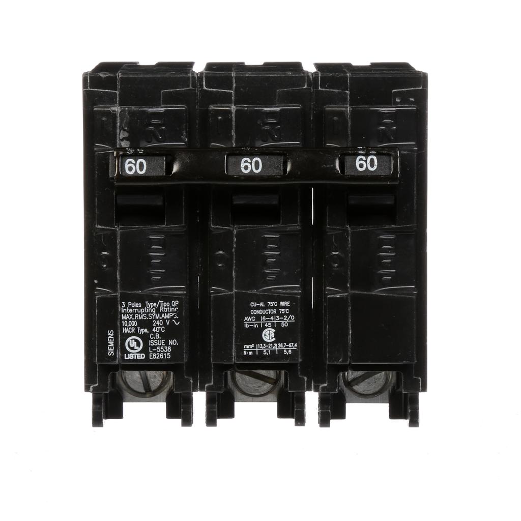 Siemens Q360 Breaker 60 Amp 3-Pole 240 Volt Circuit Breaker