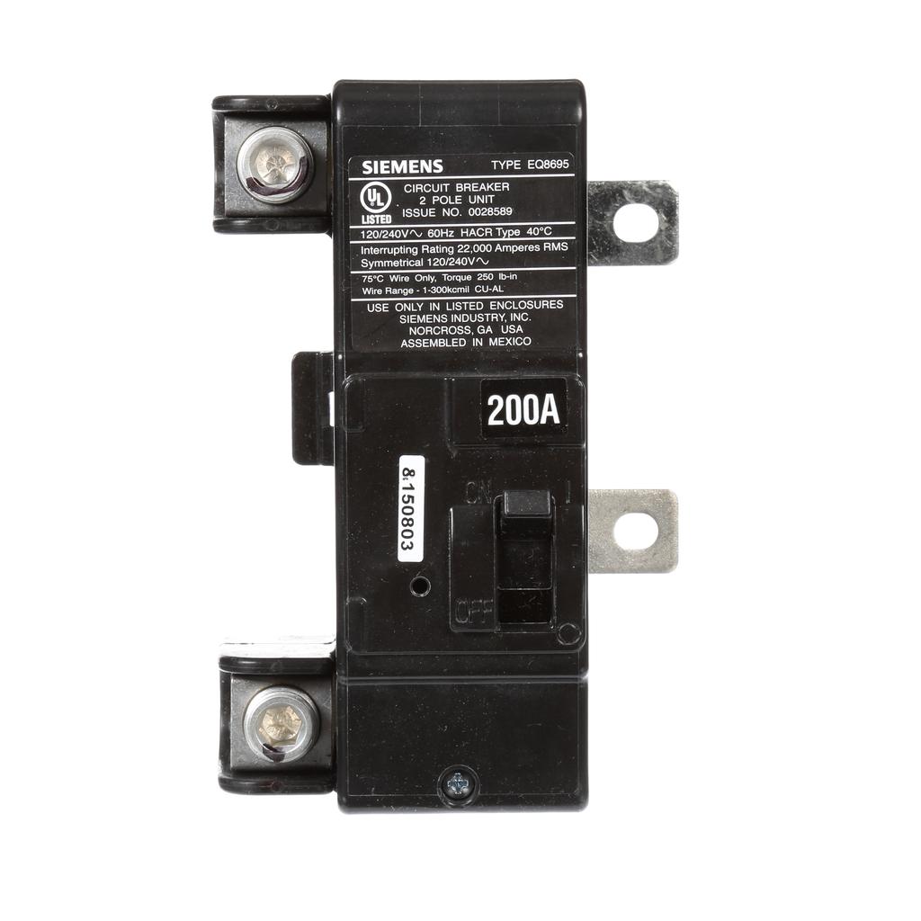 Siemens Industry MBK200A 1-Pole 200 Amp 120/240 Volt 22 kA Main Circuit Breaker Kit