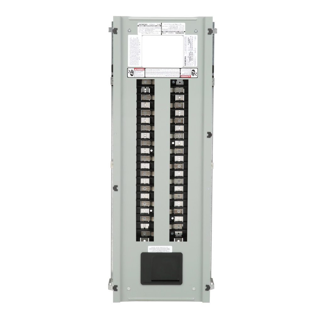 Siemens Industry P1A42MC250AT 120/240 Volt 250 Amp 42 Circuit 1-Phase 3-Wire Aluminum Bus Convertible Main Panelboard Interior