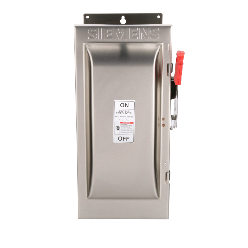Siemens Industry HNF363SS 600 VAC/250 VDC 100 Amp 3-Pole 3-Wire NEMA 4/4X Heavy Duty Non-Fusible Safety Switch
