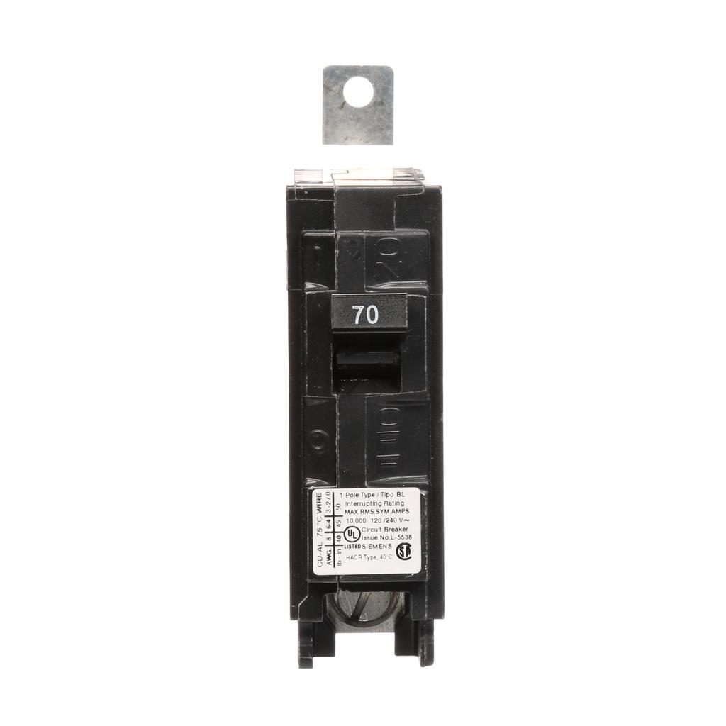 Siemens Industry B170 1-Pole 70 Amp 120 Volt 10 kA Bolt-On Molded Circuit Breaker
