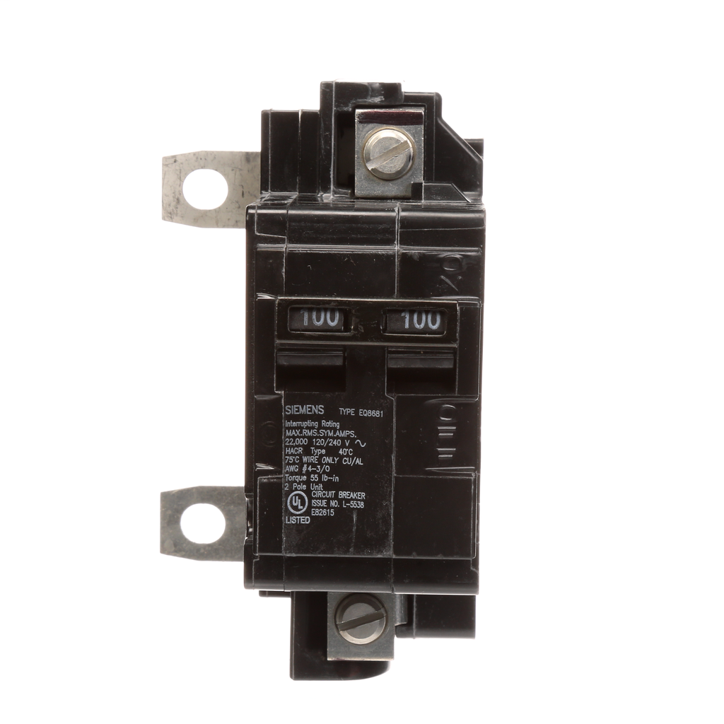 Siemens Industry MBK100A 2-Pole 100 Amp 120/240 Volt Main Circuit Breaker