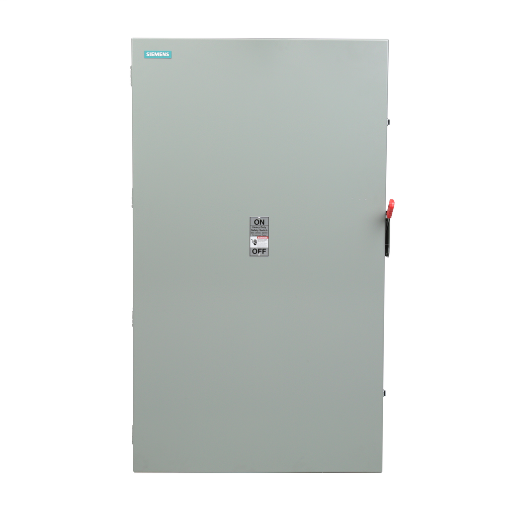Siemens Industry HF327N 240 VAC/250 VDC 800 Amp 3-Pole 4-Wire NEMA 1 Heavy Duty Fusible Safety Switch
