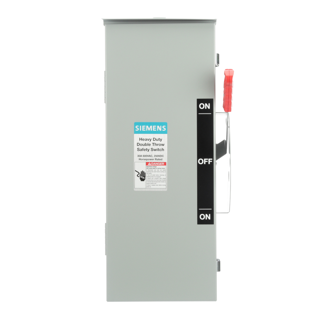 Siemens Industry DTNF361R 600 VAC/250 VDC 30 Amp 3-Pole 3-Wire NEMA 3R Heavy Duty Non-Fusible Safety Switch