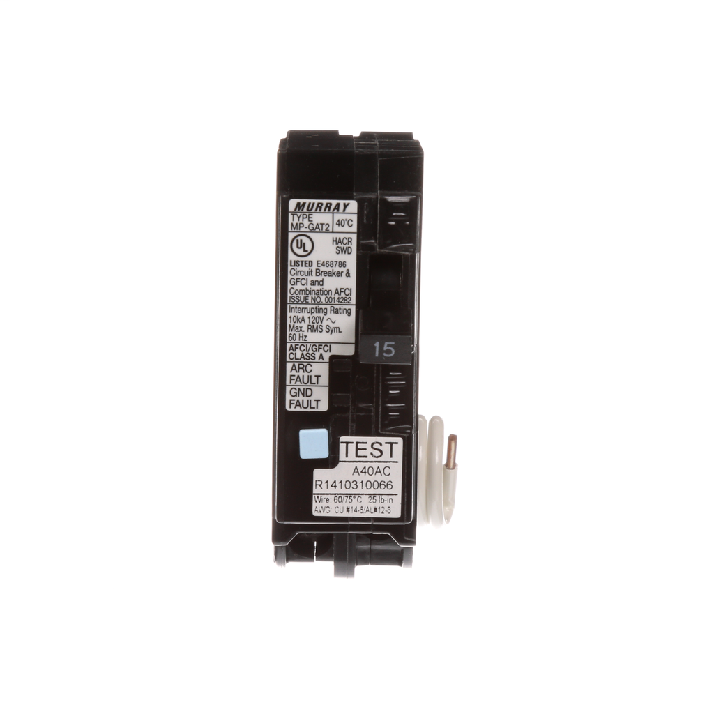 S-A MP115DFP BK MP-GAT2 AFCI/GFCI 1