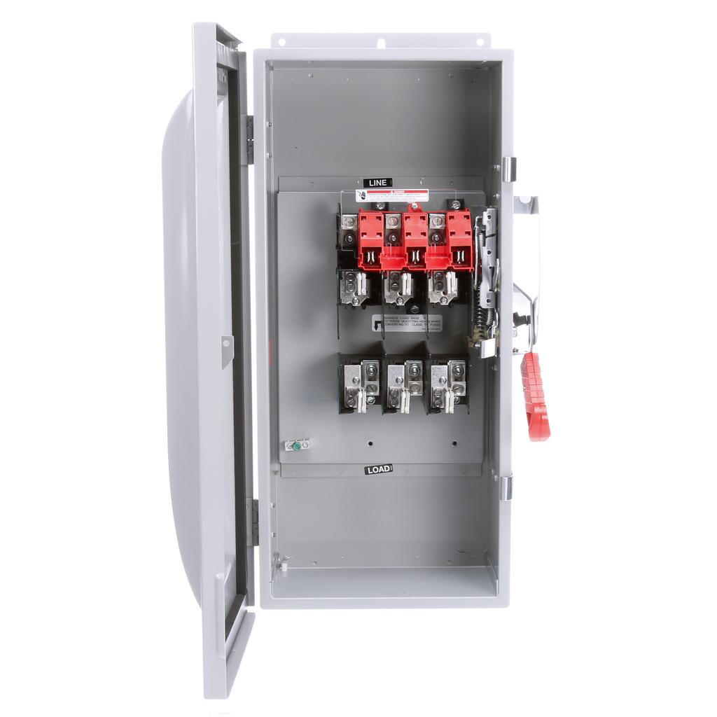 Siemens Industry HF323J 240 VAC/250 VDC 100 Amp 3-Pole 3-Wire NEMA 3R/3S/12 Heavy Duty Fusible Safety Switch