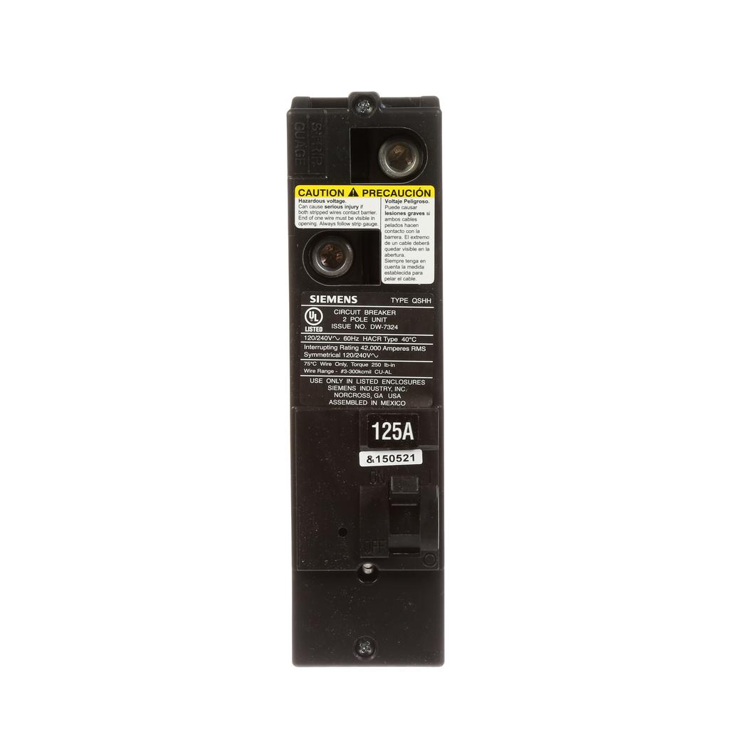 Siemens Industry QSH2125 125 Amp 42 kaic Rated Multi-Family Main Circuit Breaker