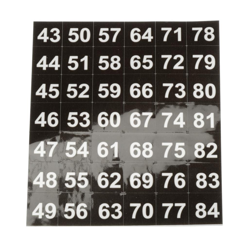 Siemens Industry NBK04 600/Box Legend 43 to 84 Panelboard Number Strip