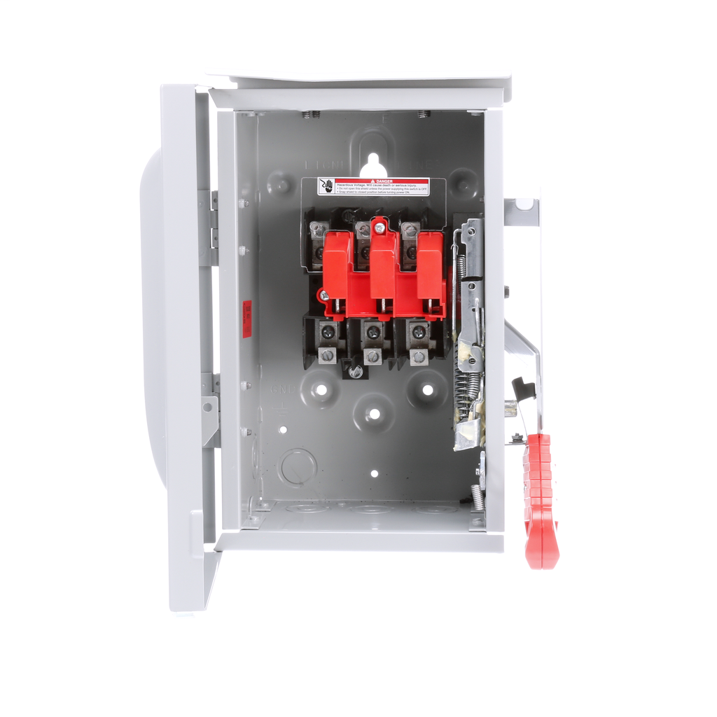 Siemens Industry HNF361R 240/480/600 VAC 250 VDC 30 Amp 3-Pole 3-Wire NEMA 3R Heavy Duty Non-Fusible Safety Switch