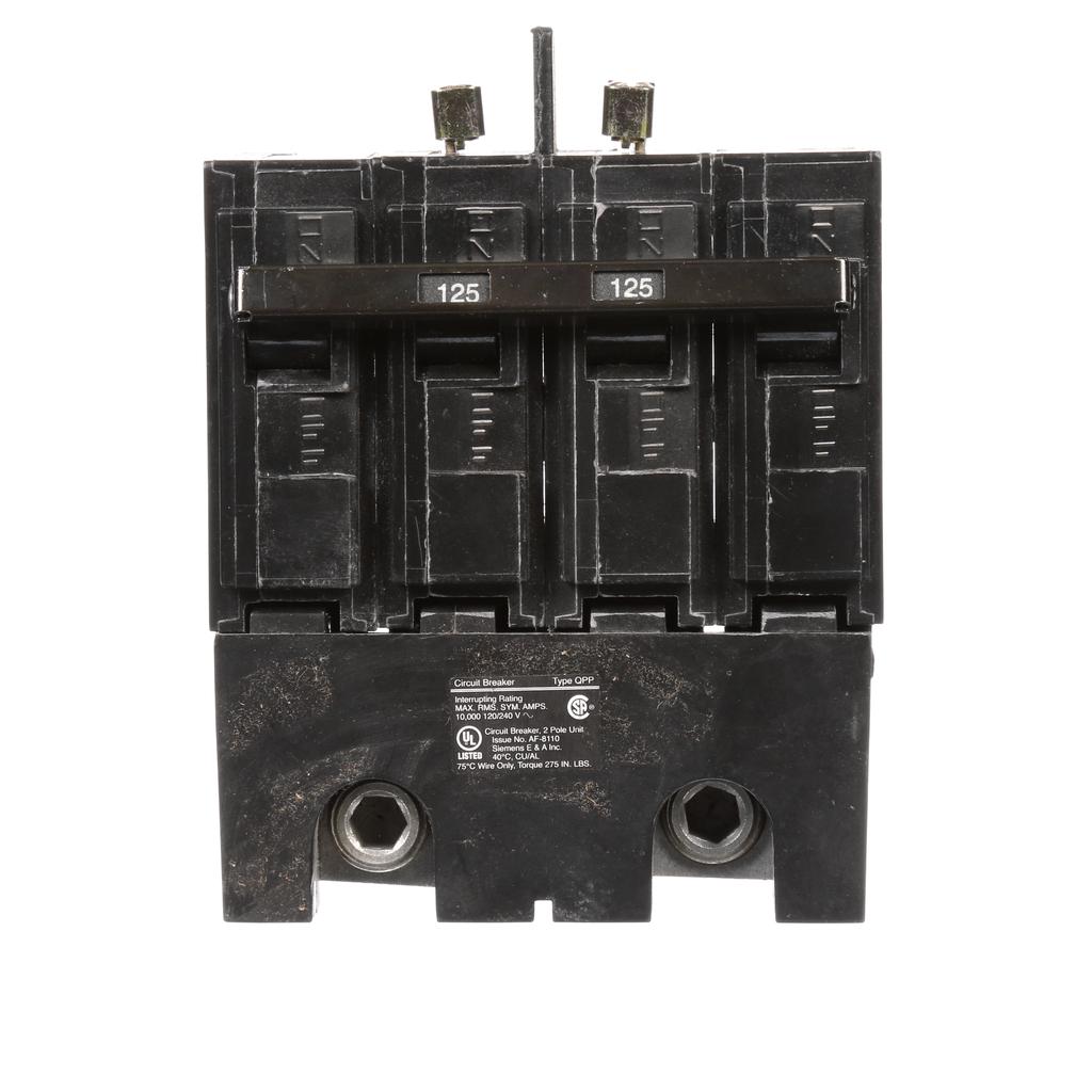Siemens Industry Q2125B 2-Pole 120/240 VAC 125 Amp 10 kA Common Trip Molded Case Circuit Breaker
