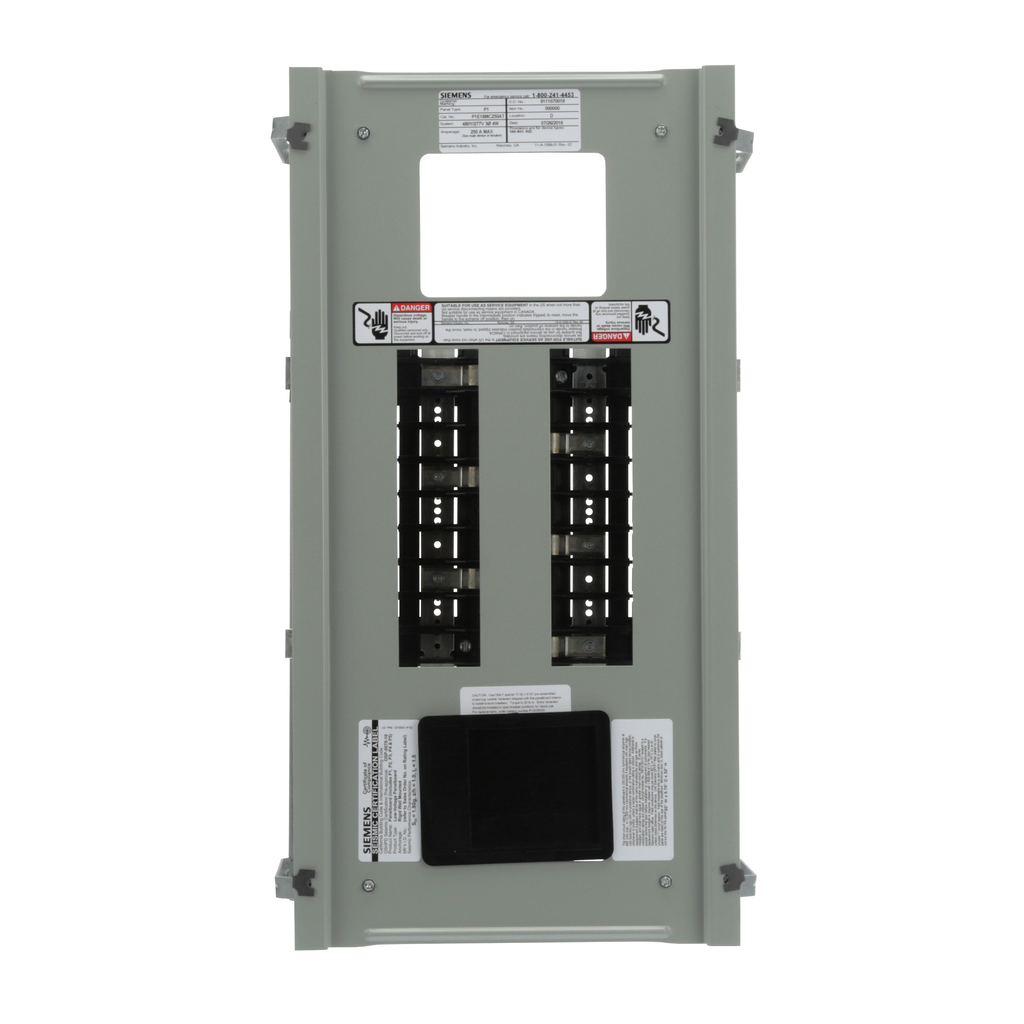 Siemens Industry P1E18MC250AT 480 Star/277 Volt 250 Amp 18 Circuit 3-Phase 4-Wire Aluminum Bus Convertible Main Panelboard