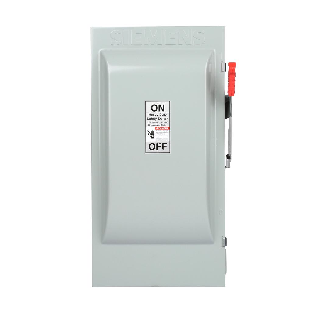 Siemens Industry HF364J 480/600 VAC 250/600 VDC 200 Amp 3-Pole 3-Wire NEMA 12 Heavy Duty Fusible Safety Switch