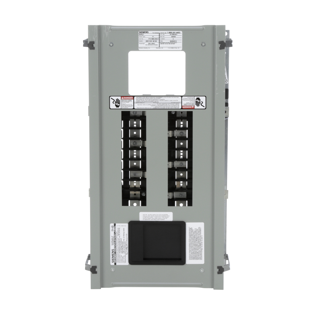 Siemens Industry P1X18MC250CT 208 Star/120 Volt 250 Amp 3-Phase 4-Wire Copper Bus Convertible Main Panelboard Interior