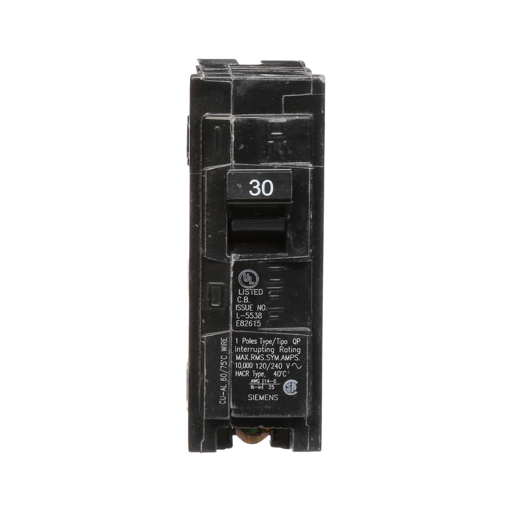 Siemens Industry Q130 1-Pole 120 VAC 30 Amp 10 kA Plug-In Circuit Breaker