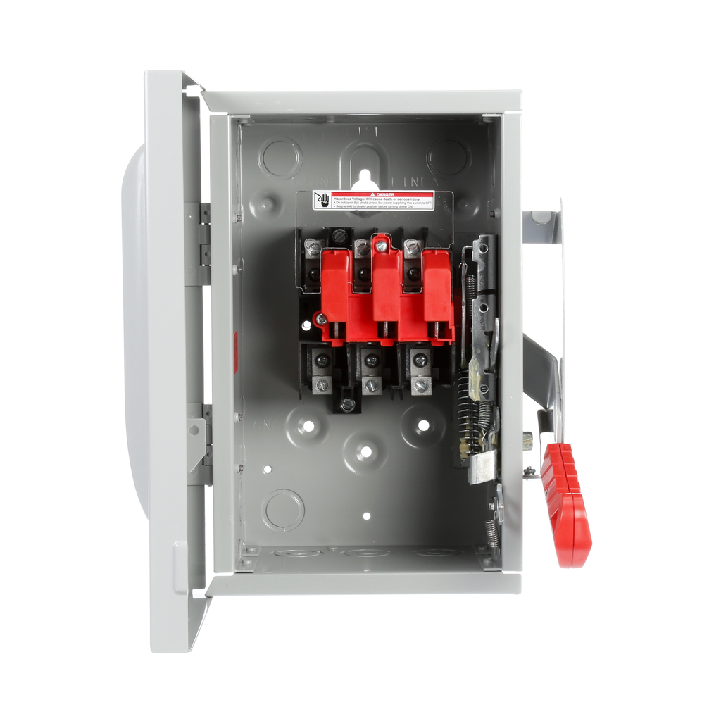 Siemens Industry HNF361 240/480/600 VAC 250 VDC 30 Amp 3-Pole 3-Wire NEMA 1 Heavy Duty Non-Fusible Safety Switch