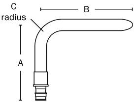 """630WG2138 1/2"""" F1960 PowerPEX® ASTM F1960 No Lead Stub Out Elbow Standard"""