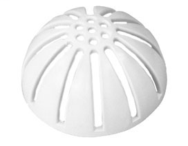 """861-D PVC dome bottom strainer 2 1/2"""" tall × 5 1 ?16"""" dia. NOT for use on drains with 6"""" hub connection SquareMax™ Accessories"""
