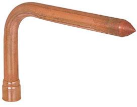 "630-C348 3/4"" CPVC socket CPVC MetalHead™ No Lead Stub Out Elbow Standard"
