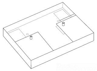 LUT CFL-JBA-FAB JUNC BOX ADPTR KIT