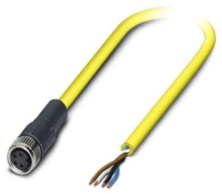 PHNX 1406239 SAC-4P- 5 0-542/M8 FS BK M8 STR 4POS 4WIRE 5M CABLE