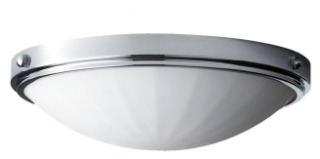 MURF FM353CH DISCONTINUED D-15 H-4 3/8 2 BULB BRUSHED STEEL FLUSHMOUNT