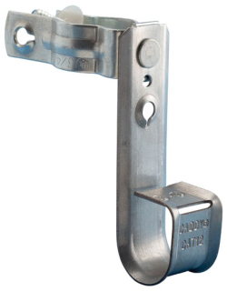 CAD CAT21CD1B CADDY CABLECAT J-HOOK WITH PEDESTAL CLAMP, 1 5/16IN DIA, 3/4IN SQUARE, 7/8IN-1 1/8IN ROUND PEDESTAL