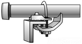 OZ GEDNEY CTC150 1-1//2 in CBL Tray CLAMP
