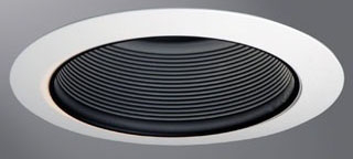 HALO ERT707 BLACK BAFFLE TRIM