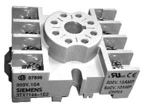 SIEM 3TX7144-1E2 8 PIN OCTAL PNL/DIN RAIL SCREW TERM SKT