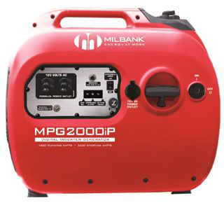 MIB MPG2000I 2000 WATT INVERTER GENERATOR 2 515R RECEPT 1.8KW RUN 53/56DBA