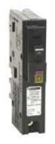 SQD HOM115DF DUAL FUNCTION ARC FAULT/GROUND FAULT BREAKER 120V 15A