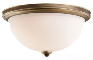 SEG 75886-898 THREE LIGHT CEILING FLUSH AGED