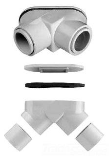 SCE PE-15/10 1/2-3/4 PVC PULL ELBOW
