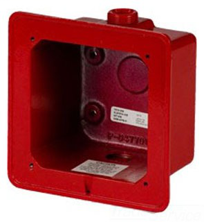 EDW 2459-WPB-R RED WP BACK BOX