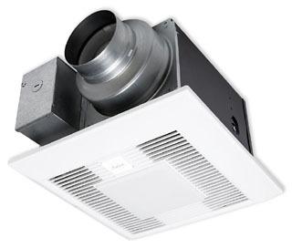 PAN FV05-11VKL1 50-80-110 CFM SINGLE SPEED & LED LIGHT WHISPER GREEN