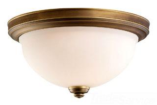 SEG 75885-898 TWO LIGHT CEILING FLUSH AGED
