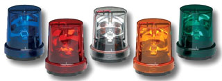 FEDS 121S-120R ROTATING LIGHT 120VAC RED