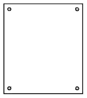 B-L AW2020P NEMA PANEL, FOR ENCLOSURE, 20X20