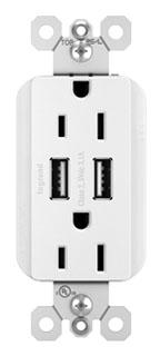 PAS TM826USBW 15A 3.1 USB + DUPLEX WH