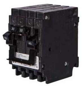 SIEM Q23020CT2NC BREAKER(1)30A 2P/(1)20A 2P 10K NON-CTLQT