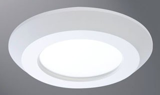 "HALO SLD405930WH 4"" SURFACE LED DOWNLIGHT, 120V, 90CRI, 3000K, WHITE"