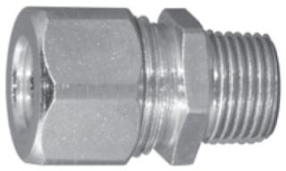 APP CG-1838S 3/8 STL STR CORD CONN