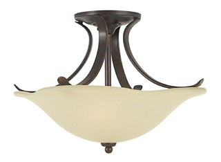FEIS SF213GBZ SEMI-FLUSH GRECIAN BRONZE