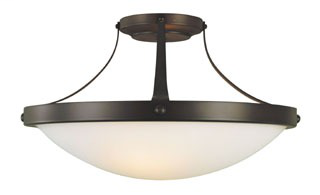 FEIS SF187ORB SEMI FLUSH MOUNT OIL RUBBED BRONZE