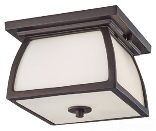 FEIS OL8513ORB 2 BULB OIL RUBBED BRONZE OUTDOOR LANTERN FLUSHMOUNT