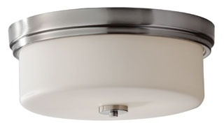FEIS FM371BS 3 BULB BRUSHED STEEL FLUSH MOUNT FIXTURE