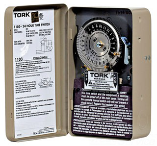TORK 1103 DPST 120V 40A TIME SWITCH