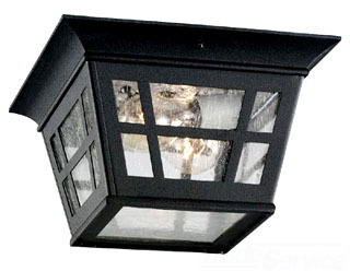 SEA 78131-12 OUTDOOR CEILING ONE LIGHT BLAC